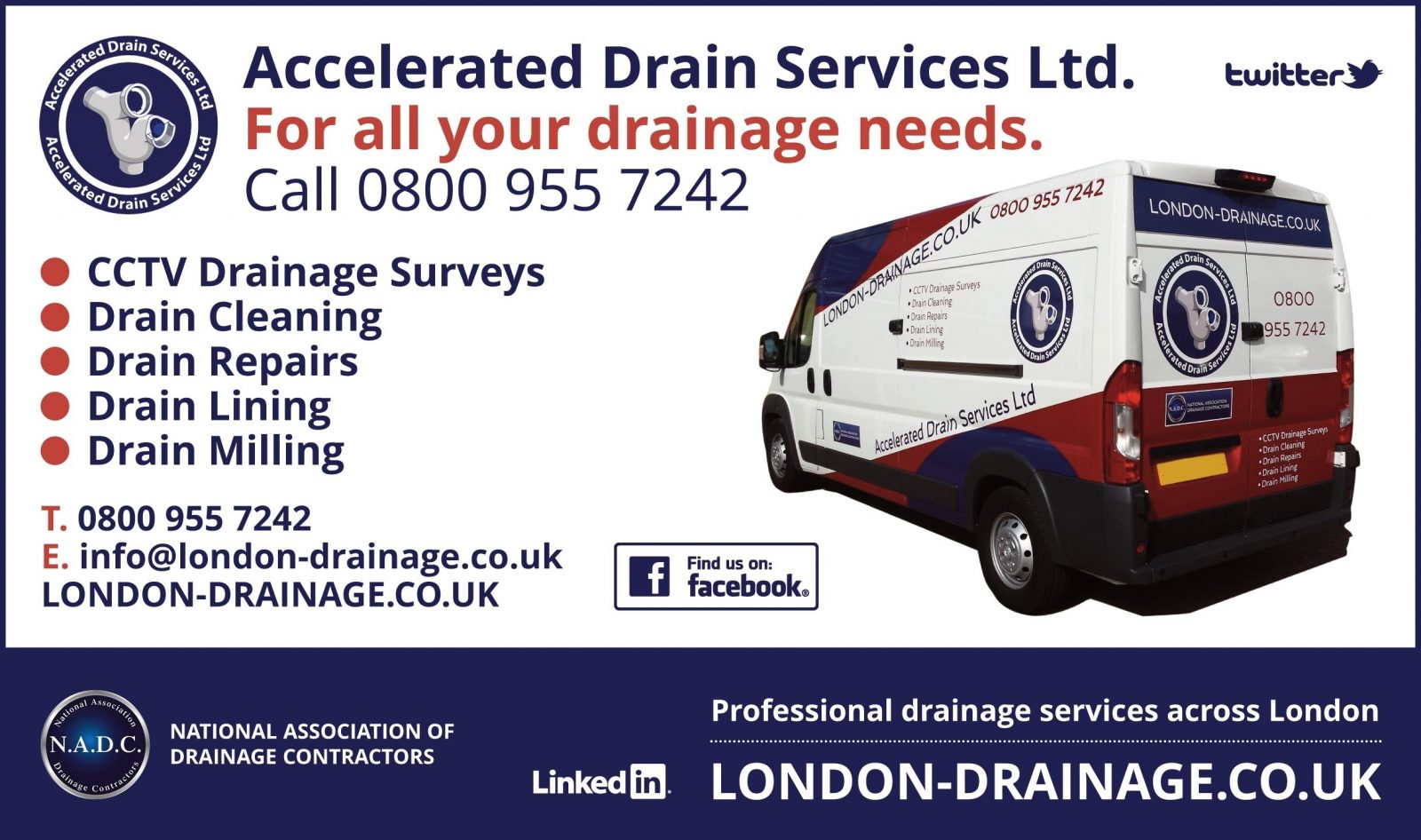 City of  London - Drainage Services - E1, EC1, EC2, EC3, EC4, SE1, WC1, WC2